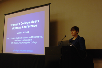 "Giving my talk entitled ""Women's College Meets Women's Conference"""